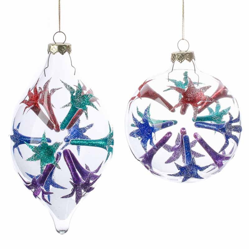 Clear Glass Starburst Ornament - Christmas Ornaments - Christmas and Winter - Holiday Crafts