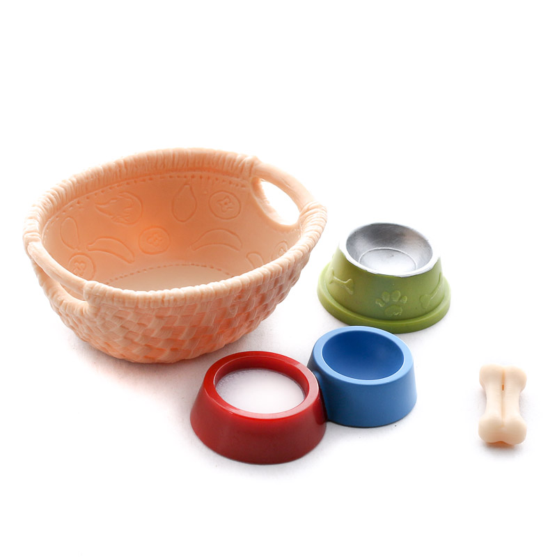 Miniature Pet Food Dishes Set