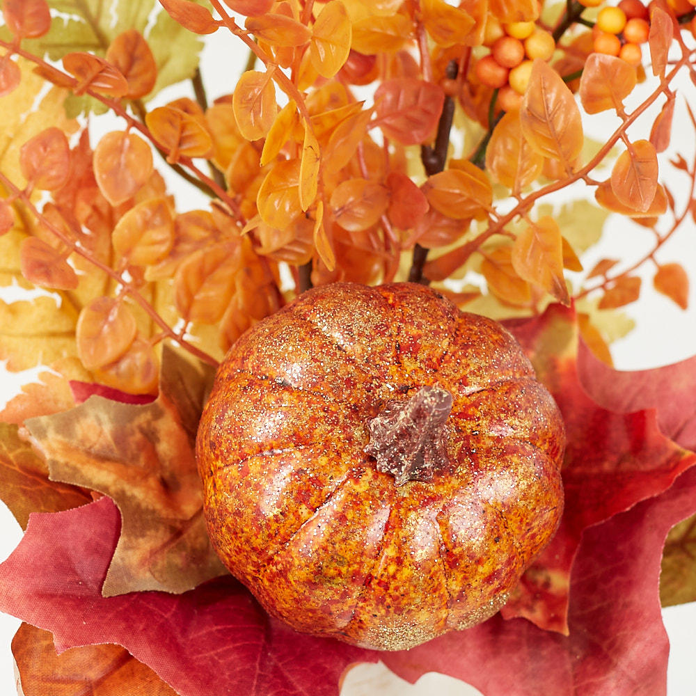 Shimmering artificial pumpkin and leaf pick picks and for Pumpkin stems for crafts