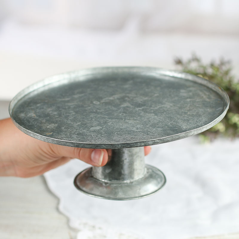 Galvanized Cake Stand For Only