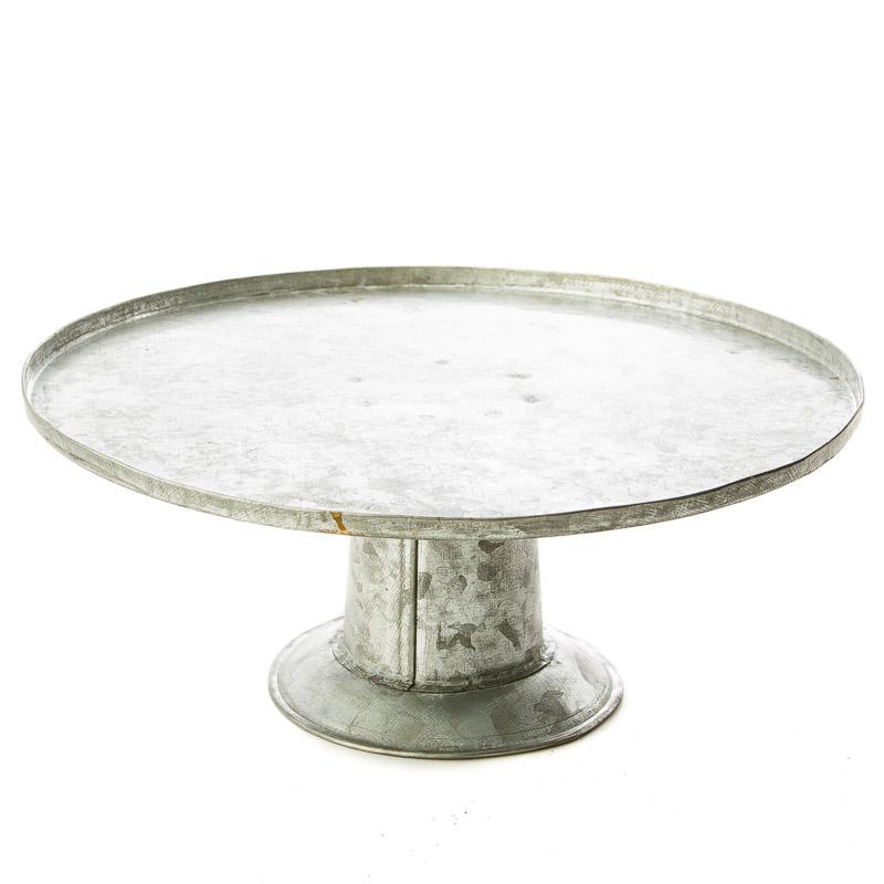 Small Galvanized Metal Cake Stand Kitchen Utensils