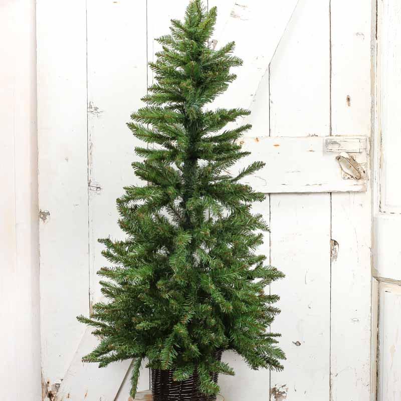 Large Christmas Tree: Large Artificial Basket Pine Tree