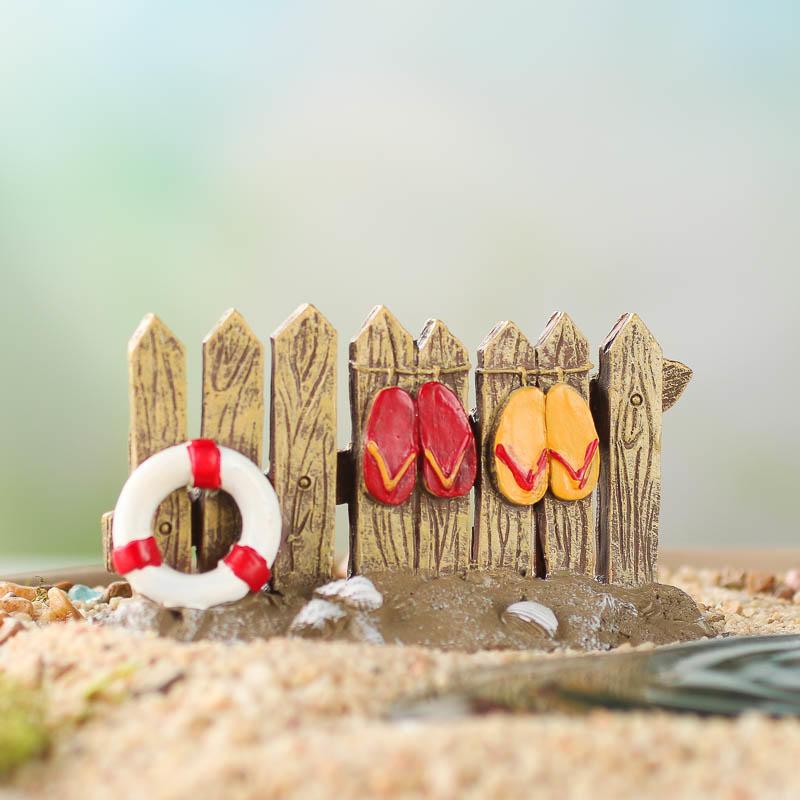 Gnome Garden: Miniature Nautical Beach Fence