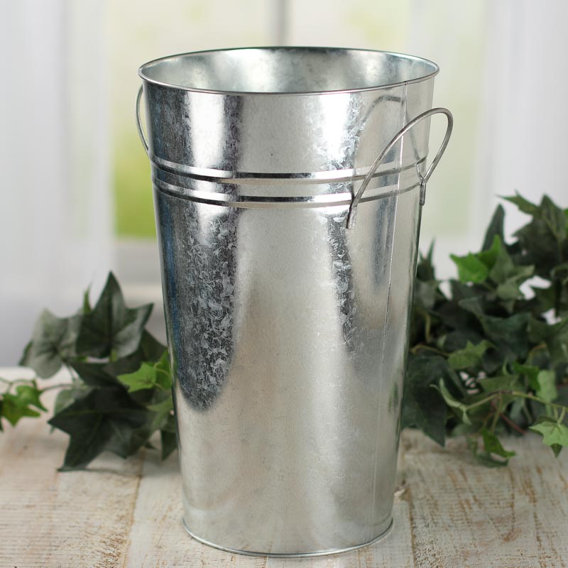 large galvanized french flower bucket baskets buckets