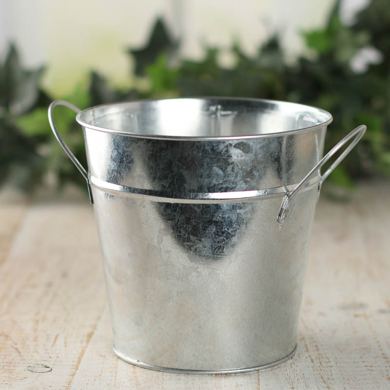 galvanized metal bucket planter baskets buckets