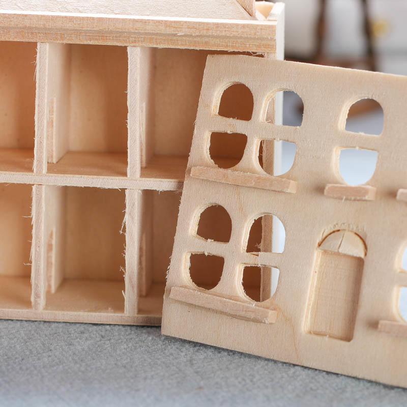 Miniature Unfinished Wood Dollhouse Wood Miniatures