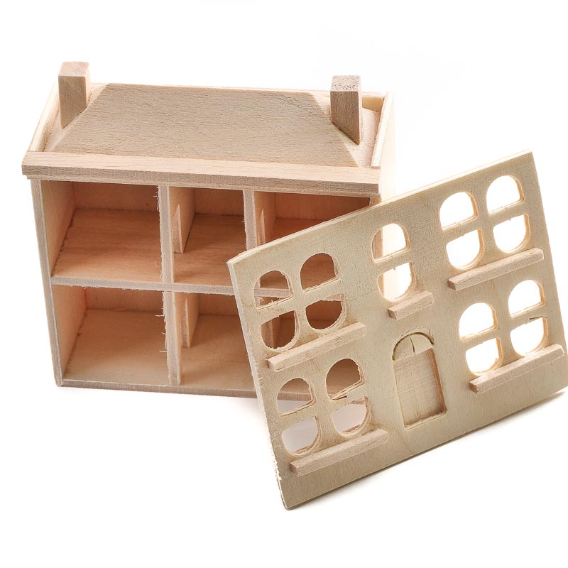 Miniature unfinished wood dollhouse wood miniatures for Wood craft supply stores