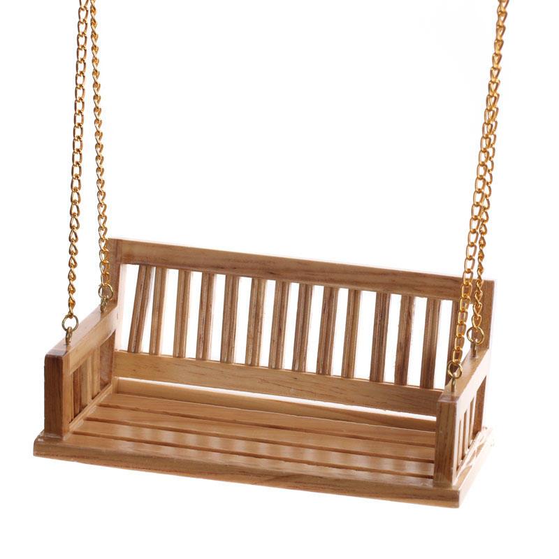 Dollhouse Miniature Wood Bench Porch Swing Bulk