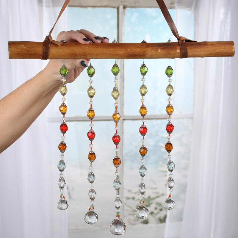 Crystal Decor For Home: Boho Hanging Crystal Sun Catcher