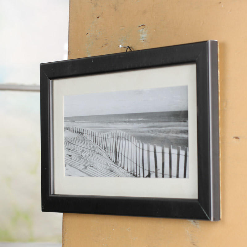 Black And White Beach Scene Framed Print Wall Decor