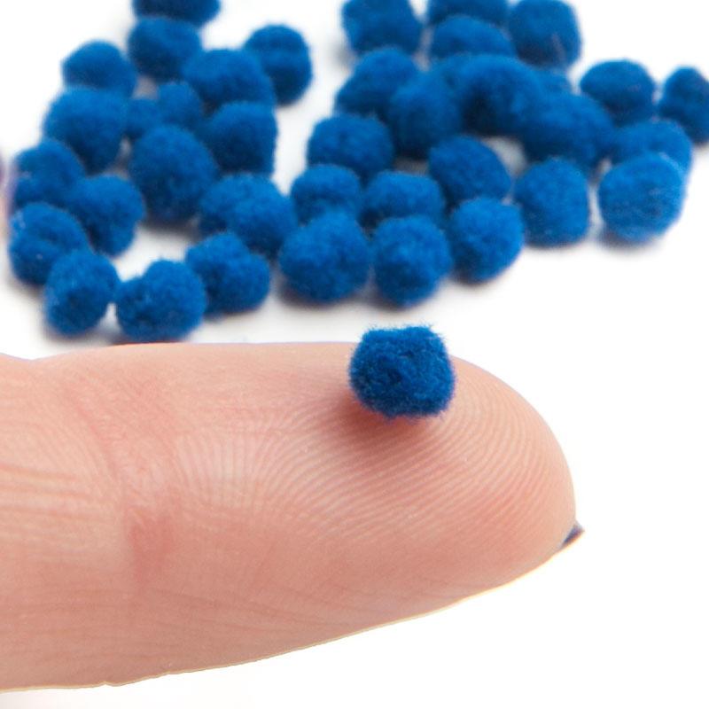 Tiny royal blue craft pom poms craft pom poms kids for Pom pom crafts