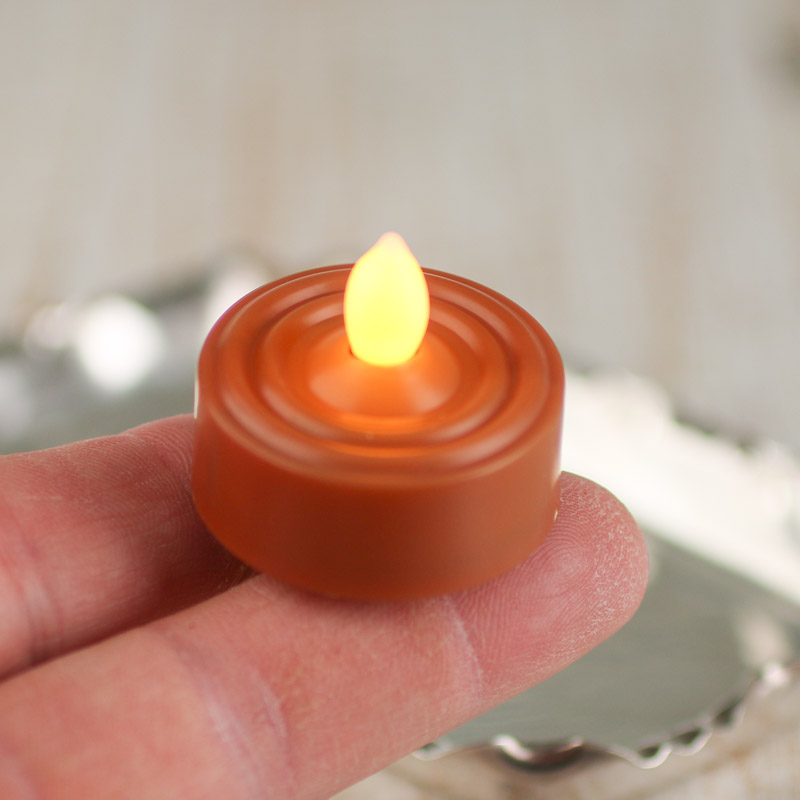 butterscotch battery operated flickering tea light candle candles. Black Bedroom Furniture Sets. Home Design Ideas