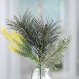 Gold Glittered Artificial Pine and Cedar Spray