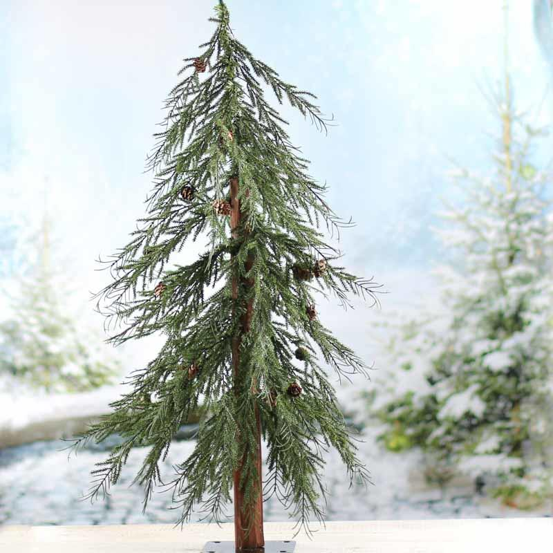 Click Here For A Larger View - Downswept Artificial Pine And Cedar Tree - Trees And Toppers