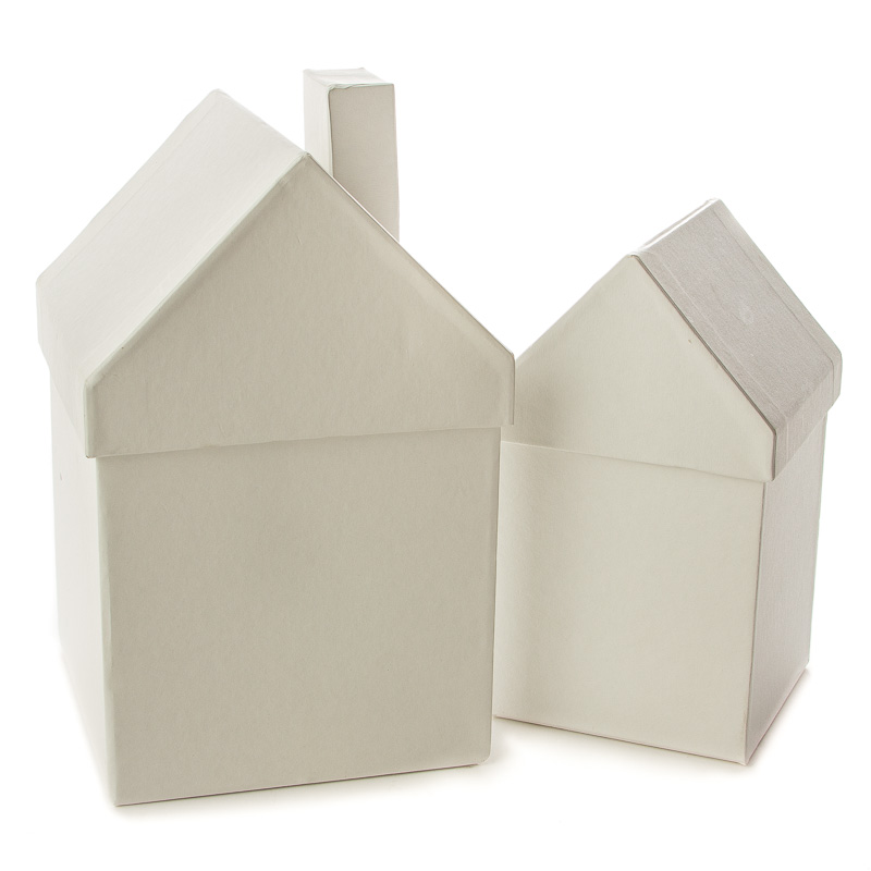 Chipboard Boxes For Crafting ~ Ready to decorate white chipboard house set wood craft