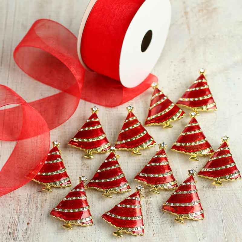 Christmas Tree Napkin Rings.Elegant Christmas Tree Napkin Ring Set Holiday Craft