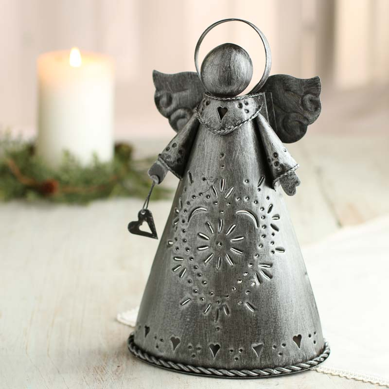 Primitive Brushed Metal Angel Christmas And Holiday