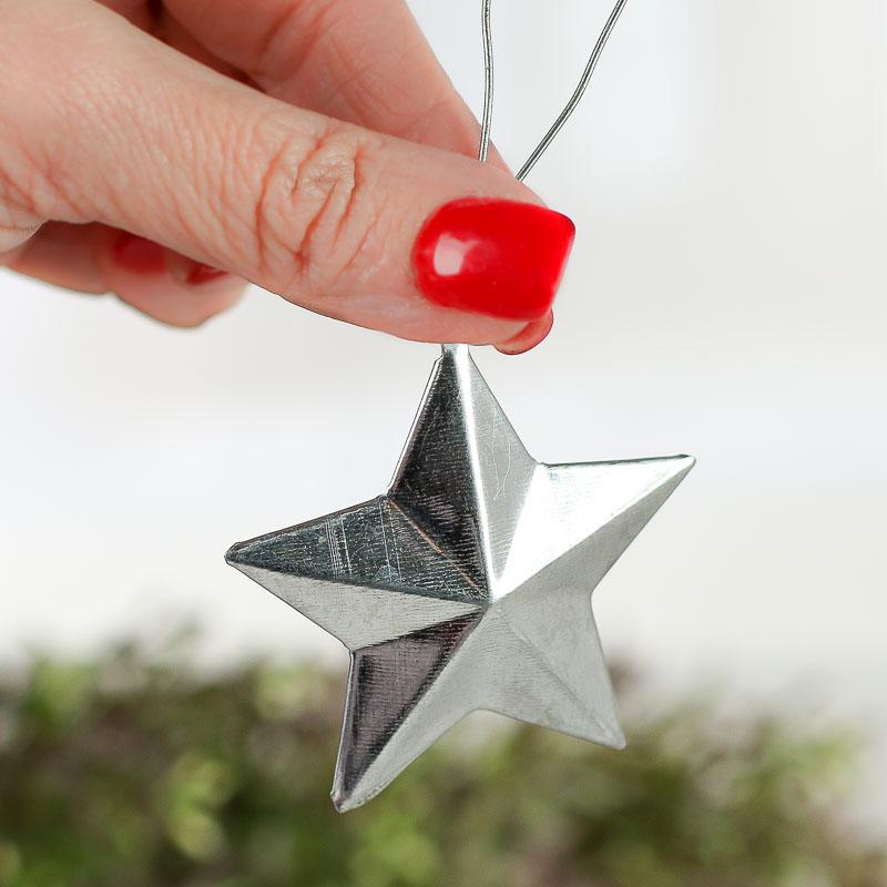 Galvanized Metal Barn Star Ornament Christmas Ornaments