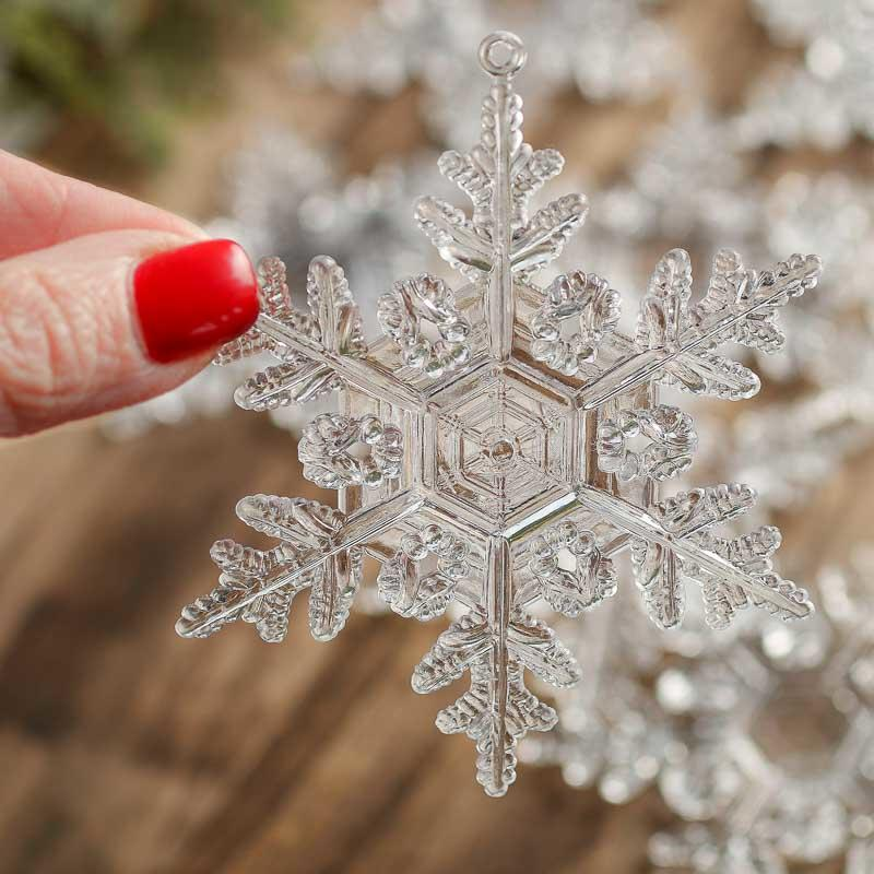 Clear Acrylic Snowflake Ornaments