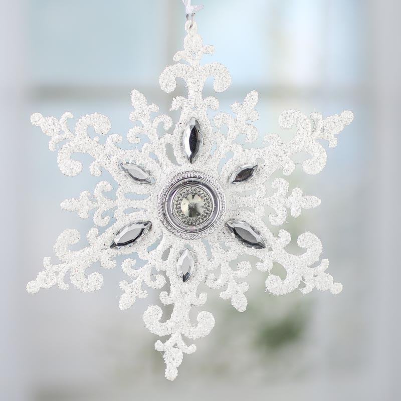 sparkling rhinestone jewel snowflake ornament
