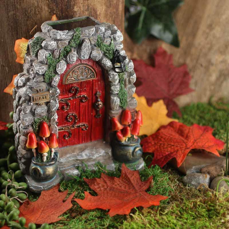Gnome Garden: Miniature Mushroom Meadow Fairy Solar Door