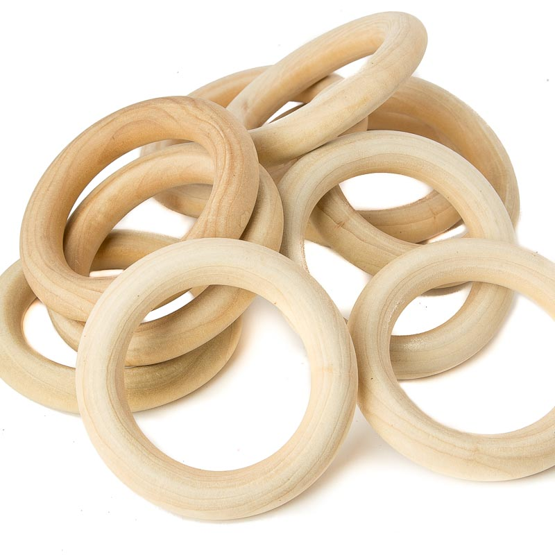 Unfinished Wood Toss Rings Wood Miniatures Wood Crafts