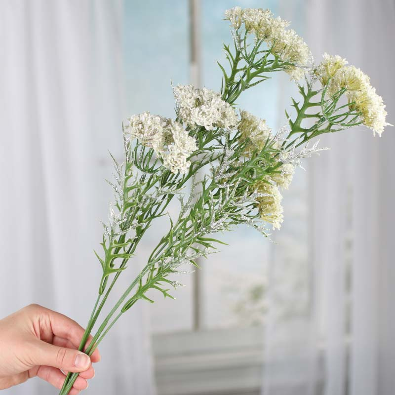 Sparkling Artificial Queen Anne's Lace Stems