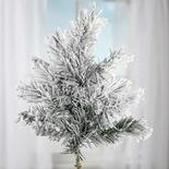 Flocked Snowy Artificial Pine Spray