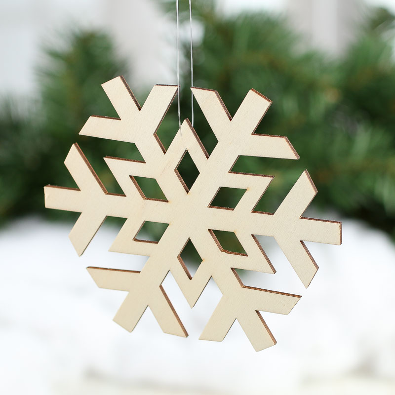 Unfinished Wood Laser Cut Snowflake Cutouts Christmas