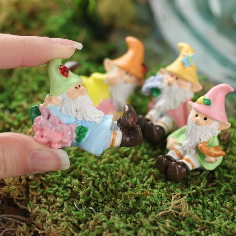 Miniature Pastel Flower Gnomes Fairy Garden Miniatures