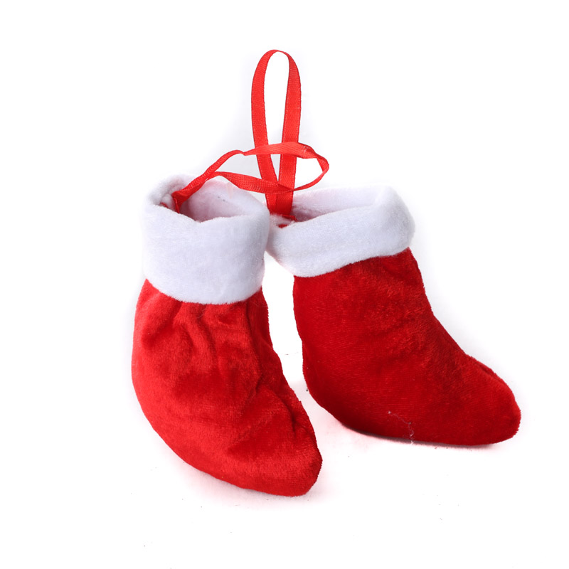 Small Red Plush Christmas Stockings Christmas And Winter