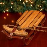 Old Fashioned Wood and Iron Sled