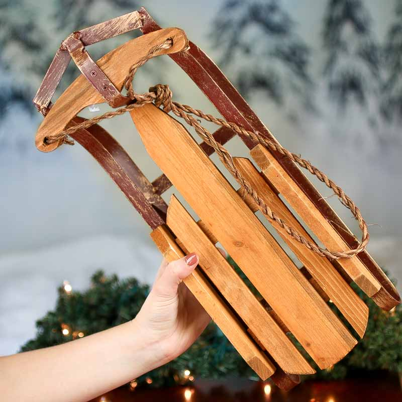 Old Fashioned Wood And Iron Sled Table Decor Home Decor