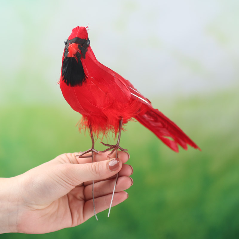 Artificial cardinal feathers boas basic craft for Synthetic feathers for crafts