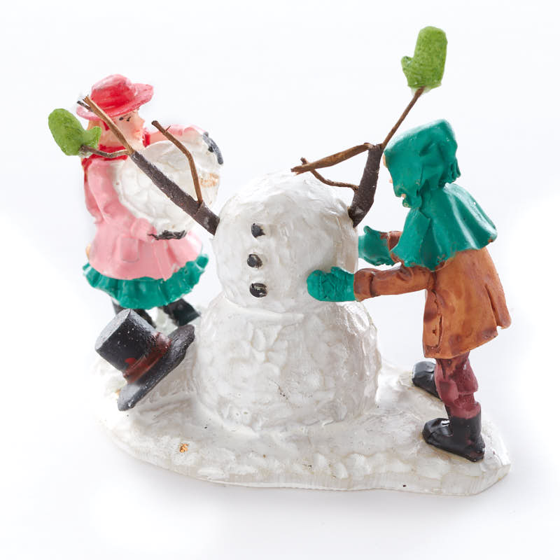 Miniature Build A Snowman Christmas Figurine