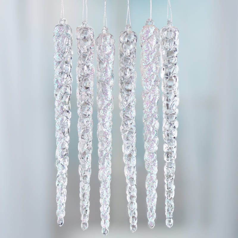 Christmas Decorations Icicle Ornaments: Sparkling Acrylic Icicle Ornaments