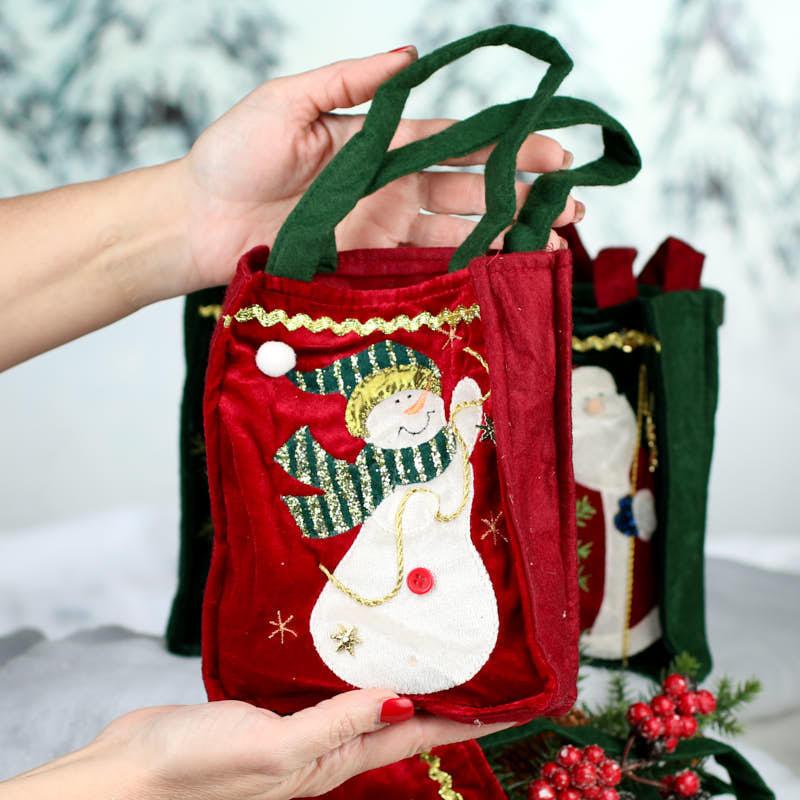 Velvet christmas bag gift bags favor party