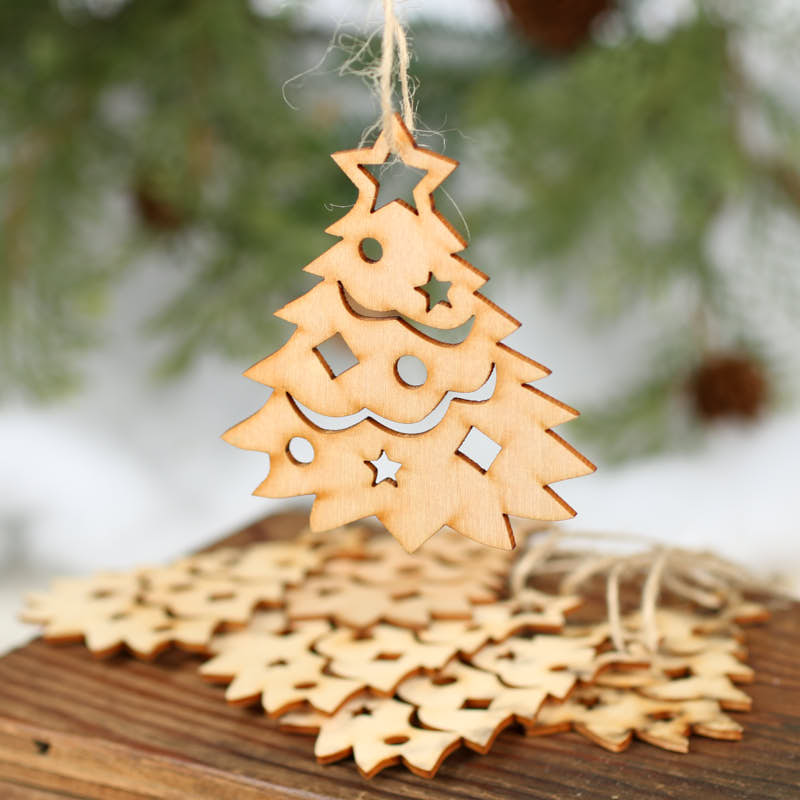 Christmas Tree From Wood: Unfinished Christmas Tree Wood Cutout Ornaments