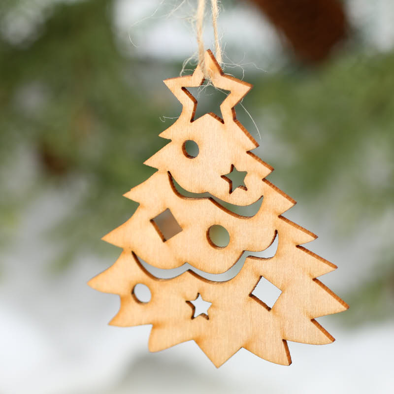 Wood Craft Christmas Ornaments