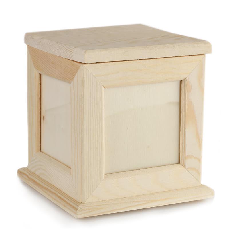 Unfinished Wood Photo Keepsake Box Wood Craft Kits