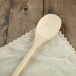 Flat Unfinished Wood Spoon