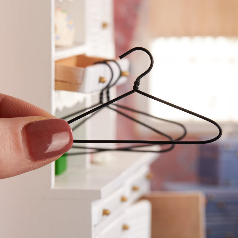 Miniature Wire Clothes Hangers Doll Accessories Doll