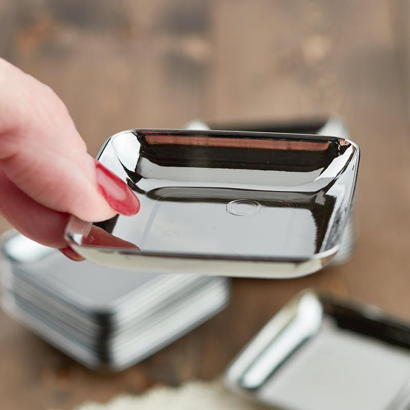 Compare Size & Small Silver Plastic Appetizer Plates - Kitchen Utensils - Kitchen ...