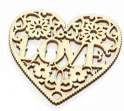 Laser Cut Wood Heart Cutout Ornament Valentine S Day