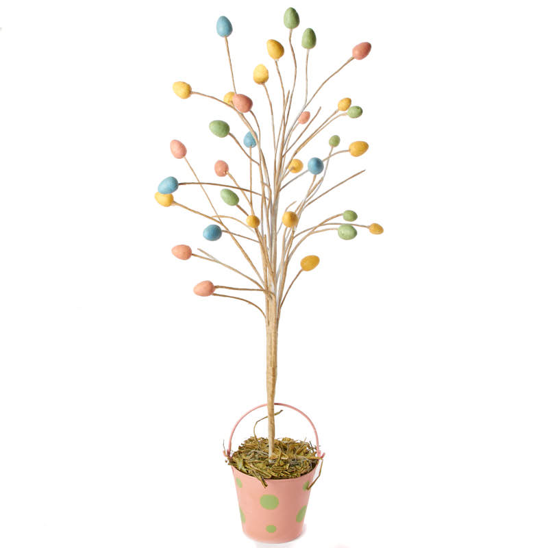 Pastel Easter Egg Tabletop Tree Spring And Easter