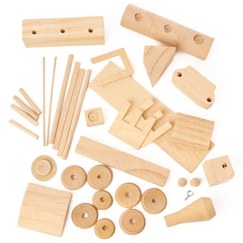 Wood civil war steam engine train kit kids craft kits for Wooden craft supplies online