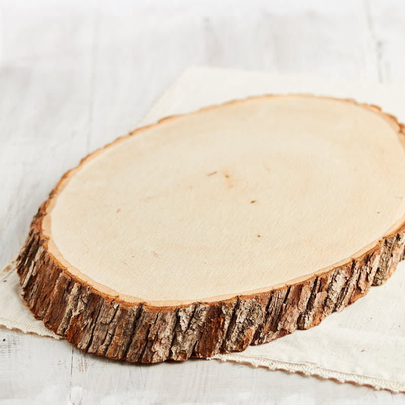 Large oval wood tree trunk slice on sale primitive decor for Wood trunk slices