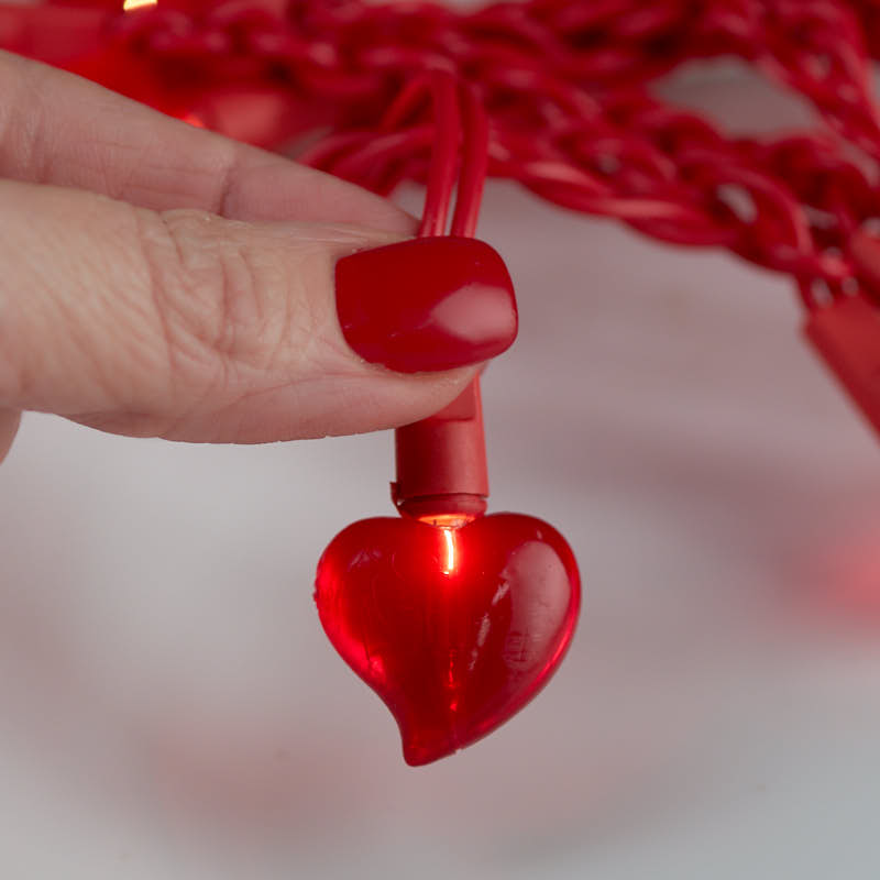 Red Heart Bulb Valentine's Day String Lights