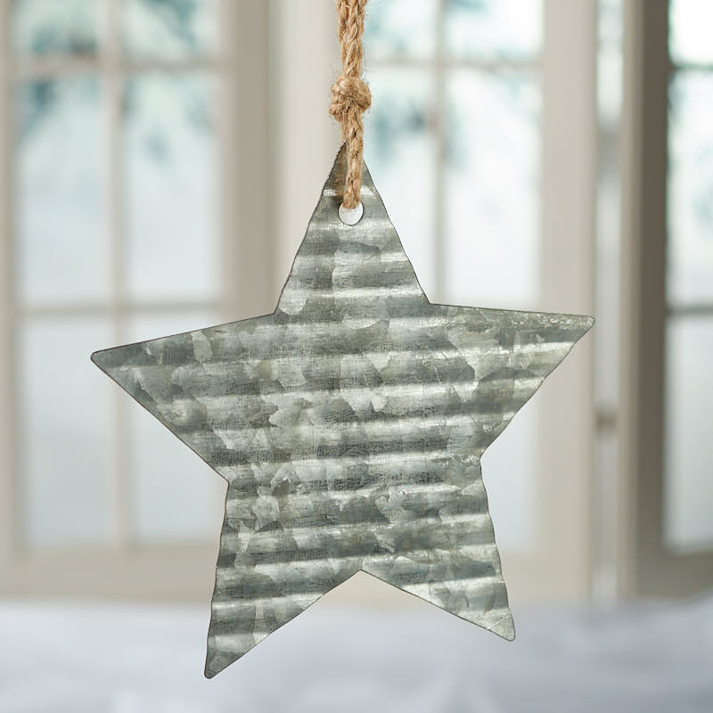 Corrugated galvanized metal star ornament what s new
