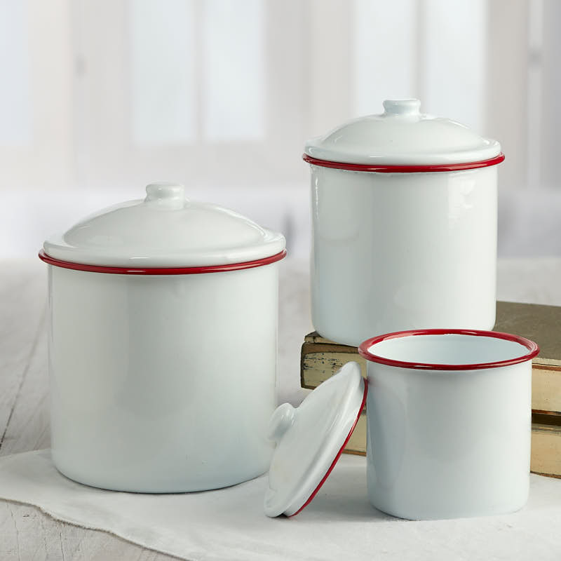 White Canister Set Kitchen